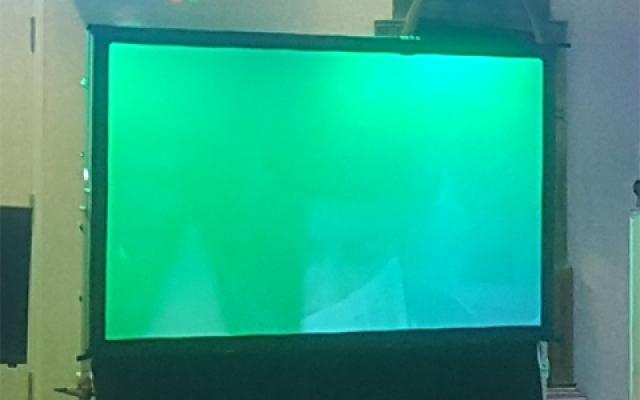 "Large 100"" Rear Projector Screen"