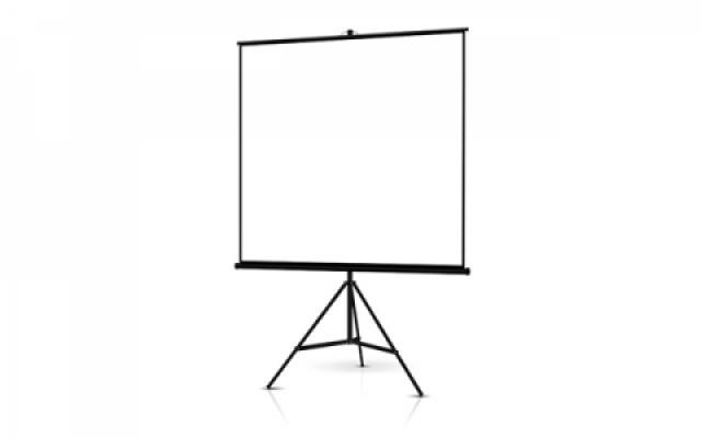 Small Projector Screen and Projector